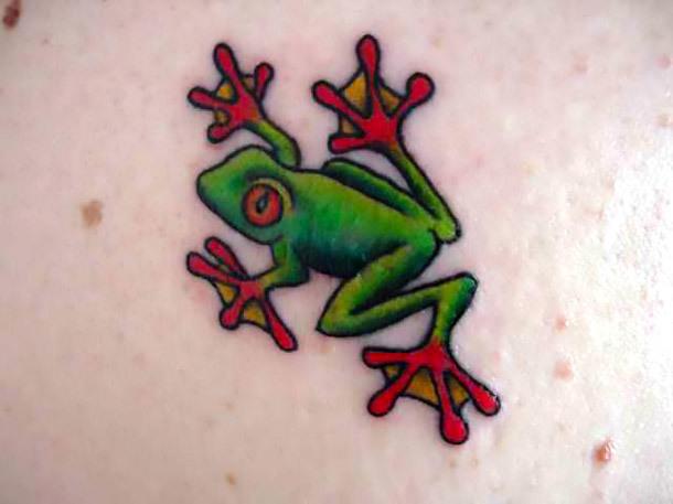 Tiny Tree Frog Tattoo Idea