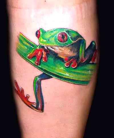 Tree Frog Tattoo Idea
