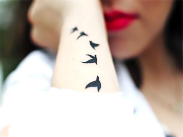Best Bird Silhouettes on Forearm Tattoo Idea