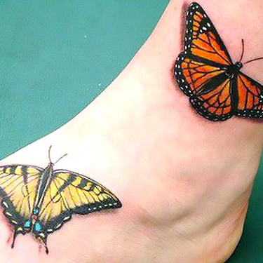 Tiger Swallowtail and Monarch Butterfly Tattoo