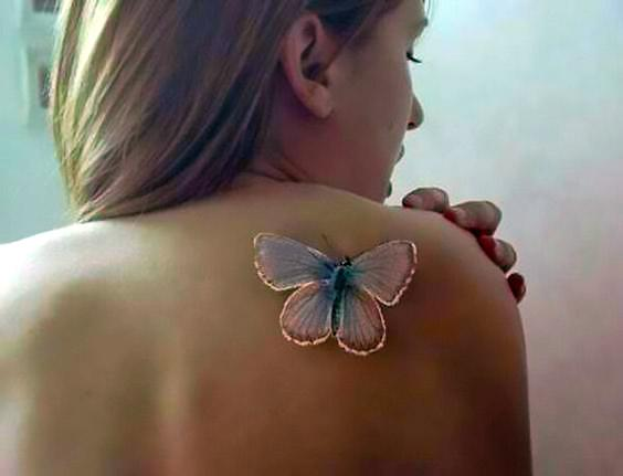 White Butterfly Tattoo for Women Tattoo Idea