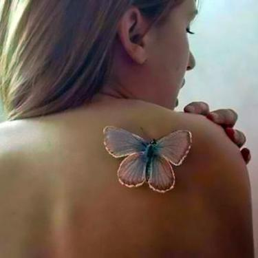 White Butterfly Tattoo for Women Tattoo