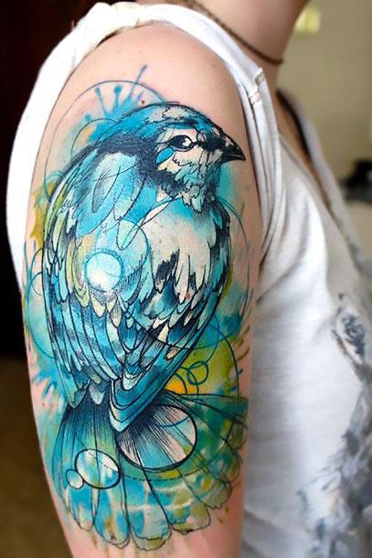 Best Bluebird Tattoo Idea
