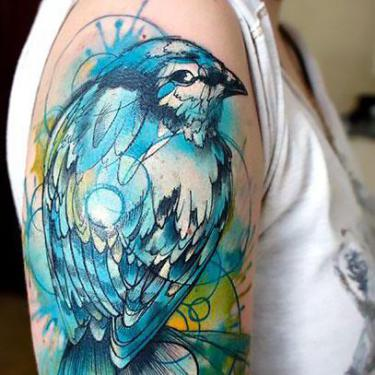 Best Bluebird Tattoo
