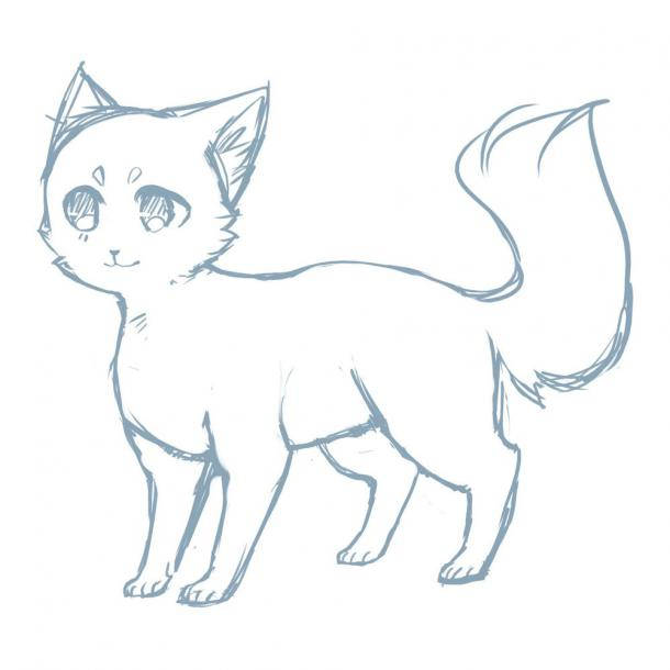 Anime Cat Tattoo Design