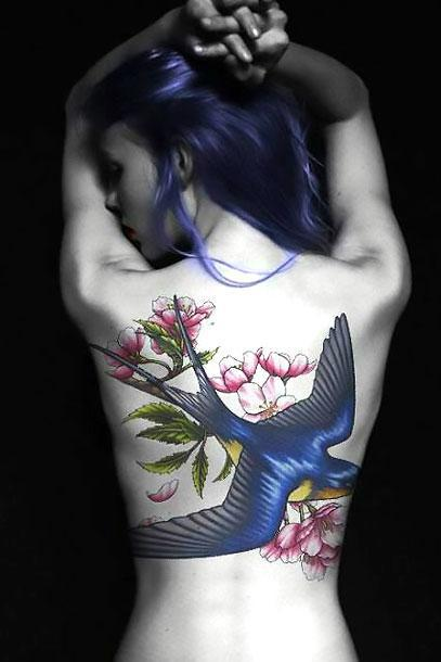 Best Bluebird for Girls Tattoo Idea