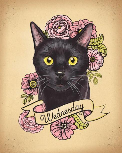 Cute Cat Portrait Tattoo Design
