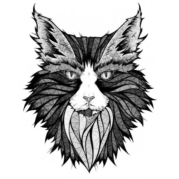 Cat Muzzle Tattoo Design
