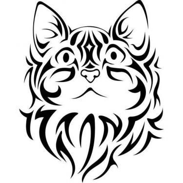 Tribal Cat Tattoo