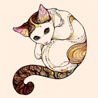 Earth Element Kitty Tattoo
