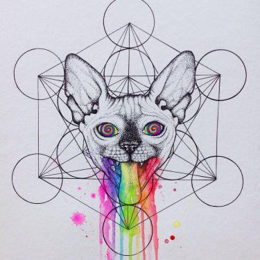 Hypno-Cat Tattoo