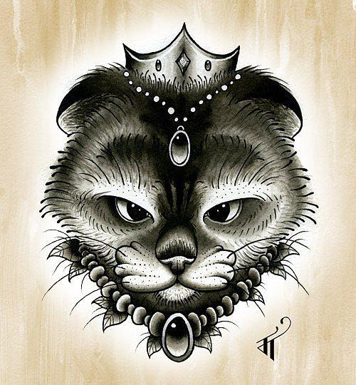 Kitty King Tattoo Design