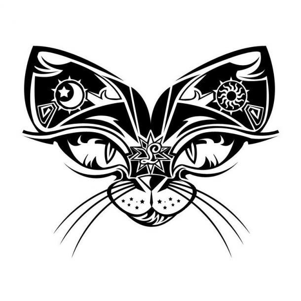 Meaningful Cat Tattoo Design