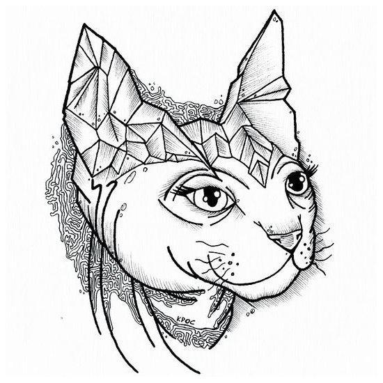 Sphynx Tattoo Design