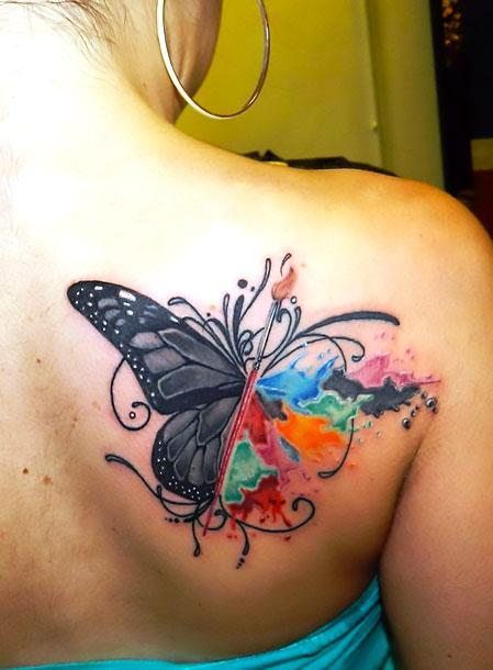 Best Butterfly on Shoulder Blade Tattoo Idea