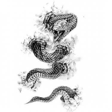 3D Rattle Snake Tattoo