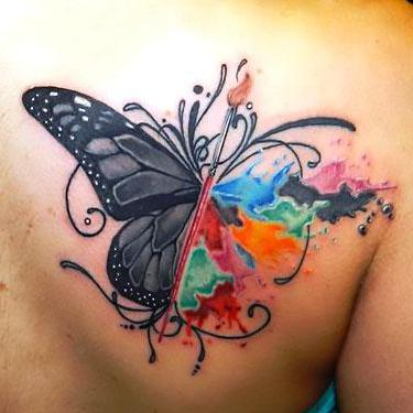 Best Butterfly on Shoulder Blade Tattoo
