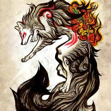 Amazing Beautiful Wolf Tattoo