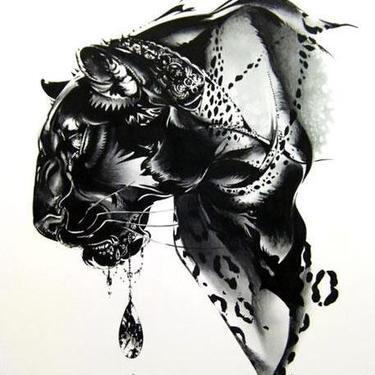 Amazing Black Leopard Tattoo