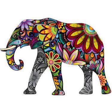 Amazing Colorful Elephant Tattoo