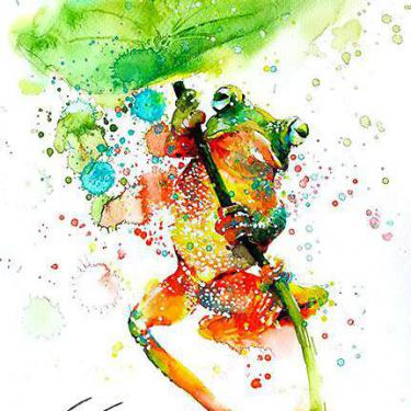 Amazing Colorful Tree Frog Tattoo