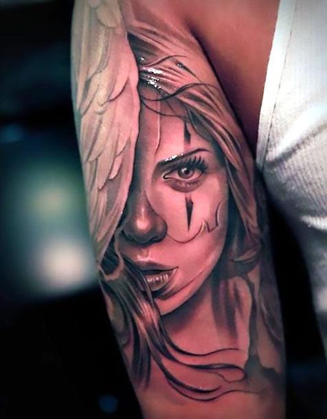 Best Chicano Lady Tattoo Idea