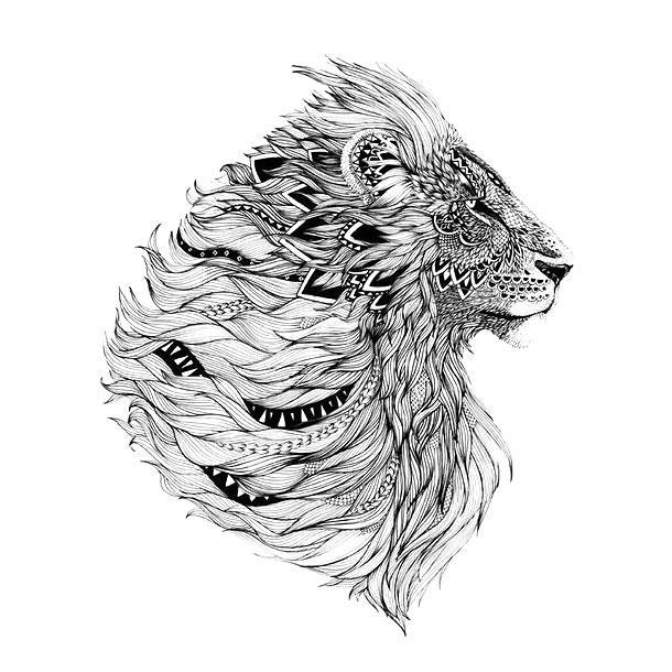 Amazing Lion Head Tattoo Design