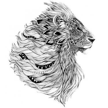 Amazing Lion Head Tattoo