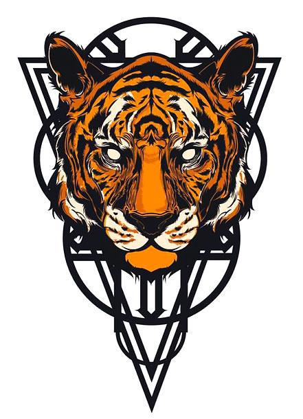 Amazing Tiger Face Tattoo Design