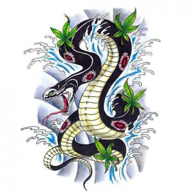 Asian Snake Tattoo