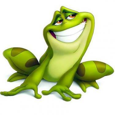 Awesome Cartoon Frog Tattoo
