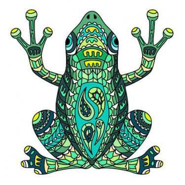 Awesome Frog Colorful Tattoo