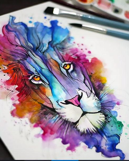 Awesome Lion Tattoo Design
