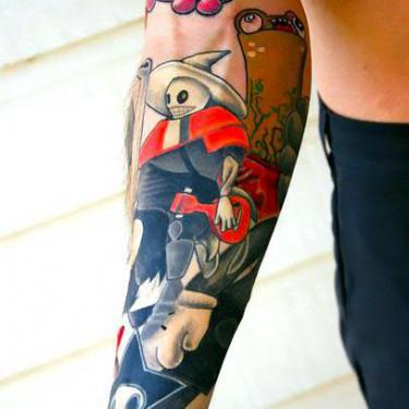 Best Colorful Arm Tattoo