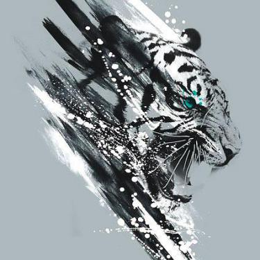 Awesome White Tiger Tattoo