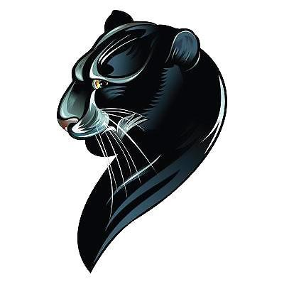 Awesome Black Leopard Tattoo Design