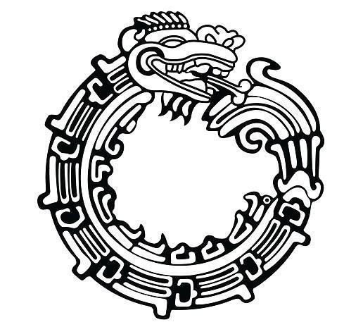 Aztec Snake Tattoo Design