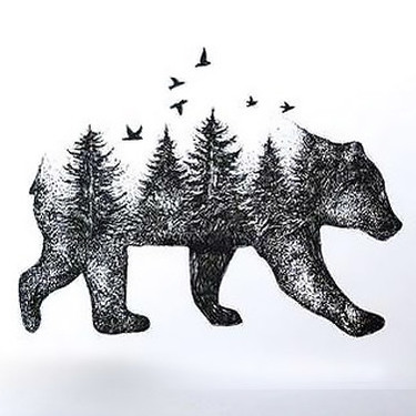Bear Forest Tattoo