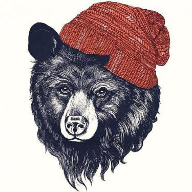 Bear In Hat Tattoo