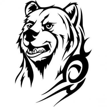 Bear Tribal Tattoo
