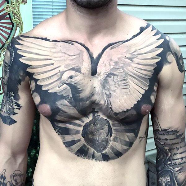 Best Dove for Men Tattoo Idea