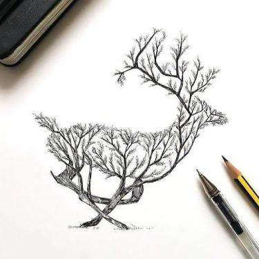 Beautiful Deer Tattoo