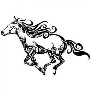 Beautiful Tribal Horse Tattoo