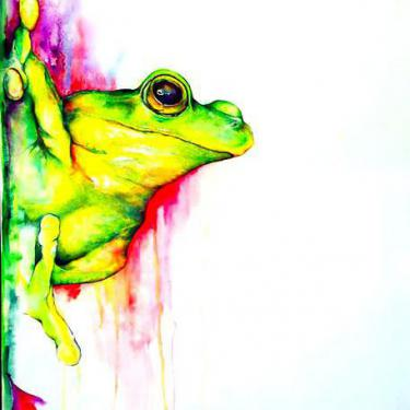 Beautiful Watercolor Tree Frog Tattoo