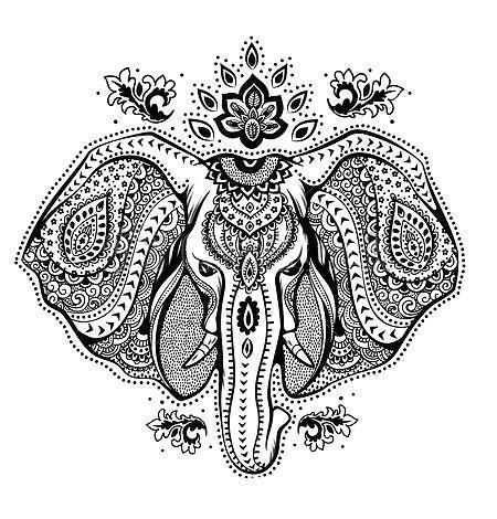 Beautiful Elephant Head Tattoo Design
