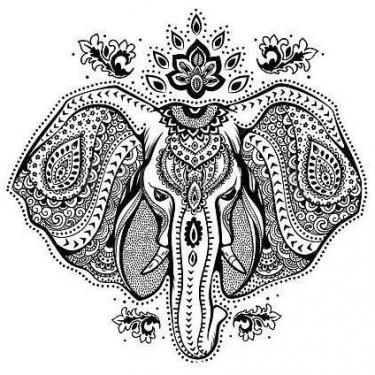 Beautiful Elephant Head Tattoo