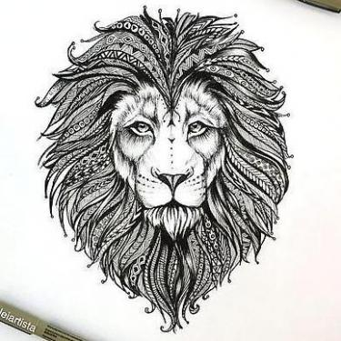 Beautiful Lion Head Tattoo