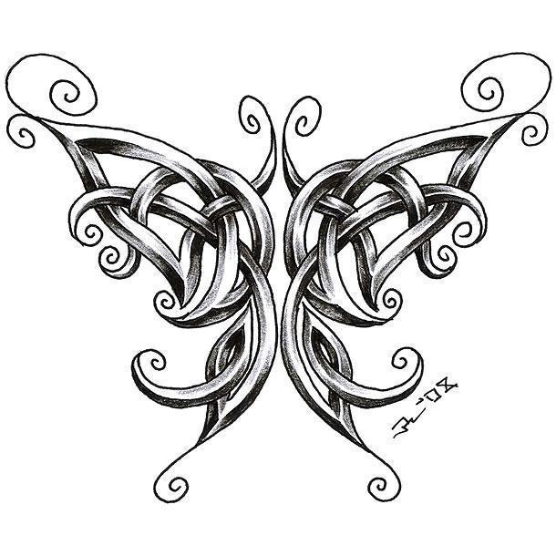 Best Celtic Butterfly Tattoo Design