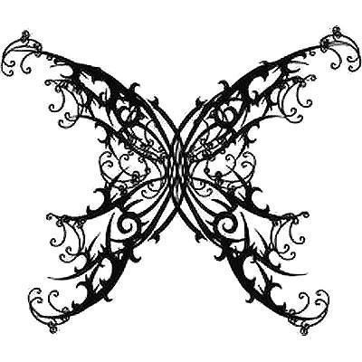 Best Gothic Butterfly Tattoo Design