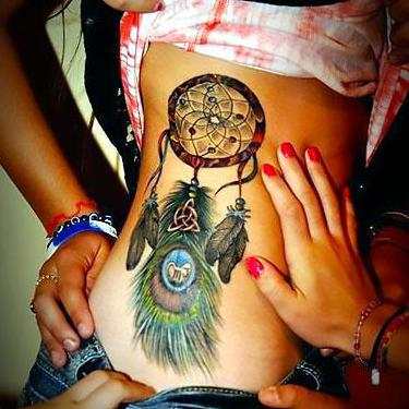 Best Dreamcatcher on Side Tattoo